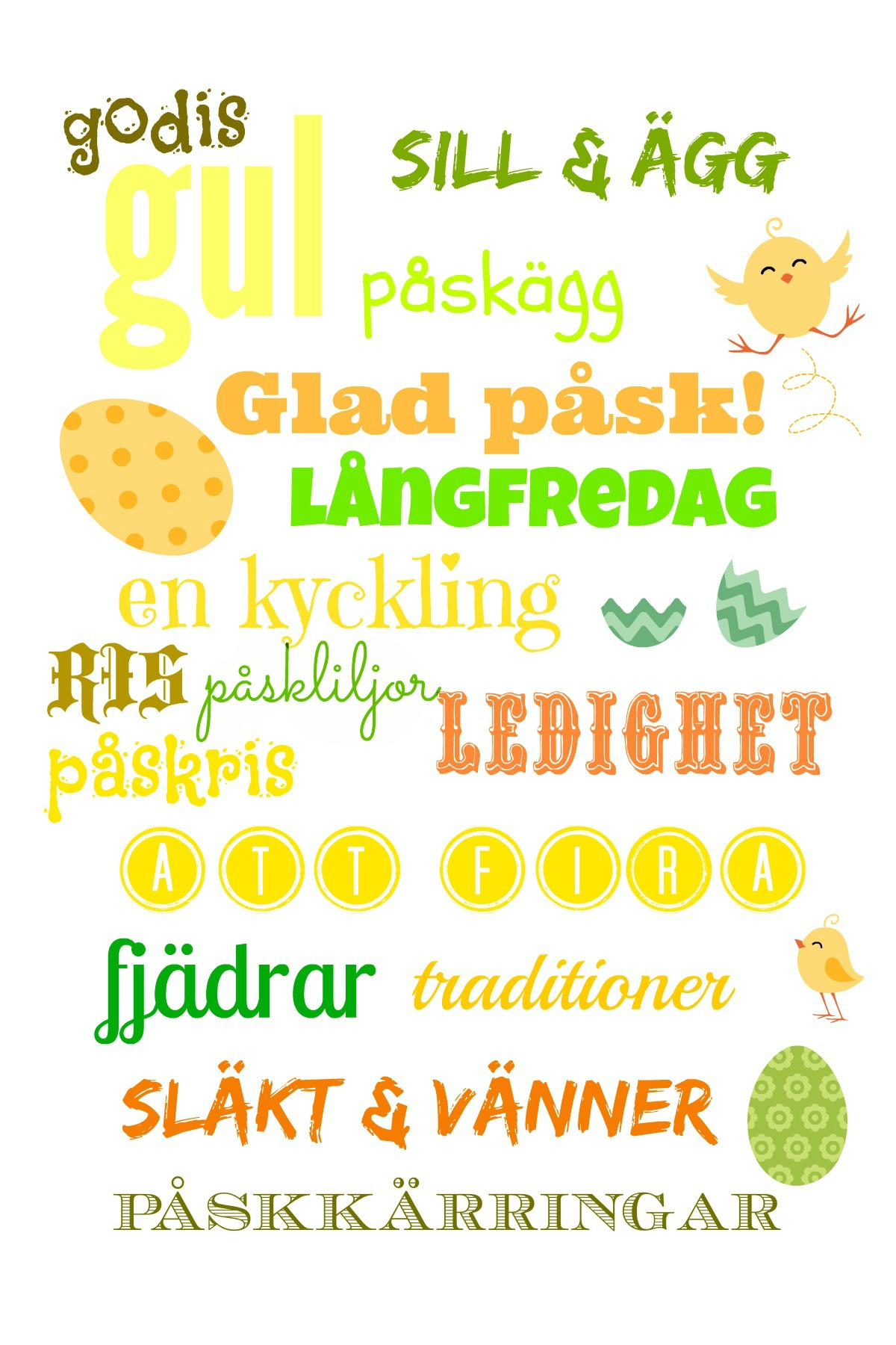 Swedish Easter vocabulary - learn Swedish